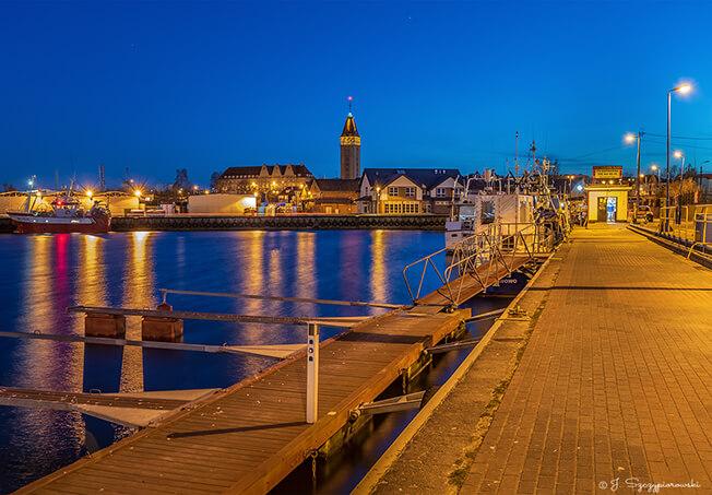 Port nocą we Władysławowie, fot.7