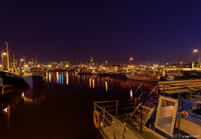 Port nocą we Władysławowie, fot.44